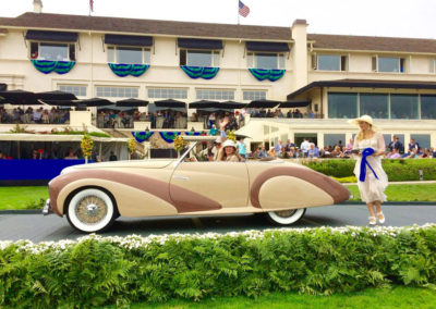 The Delahaye that took gold in the K-2 Delahaye Postwar category in the 2016 Pebble Beach Concours d'Elegance.